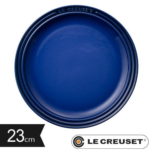 ルクルーゼ ストーンウェア ラウンド・プレートLC 23cm コバルトブルー Stoneware lecsto LE CREUSET 【ギフト袋 対象】 レビューを書いてプレゼント対象商品