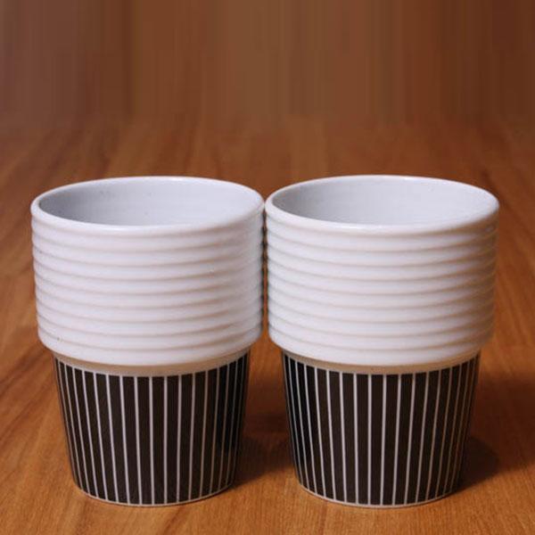 【 全品10%OFFクーポン 】 ロールストランド フィリッパ コー コーヒー マグ 2個セット 310ml Pinstripes Filippa K rorswe Rorstrand 【ギフト袋 対象】