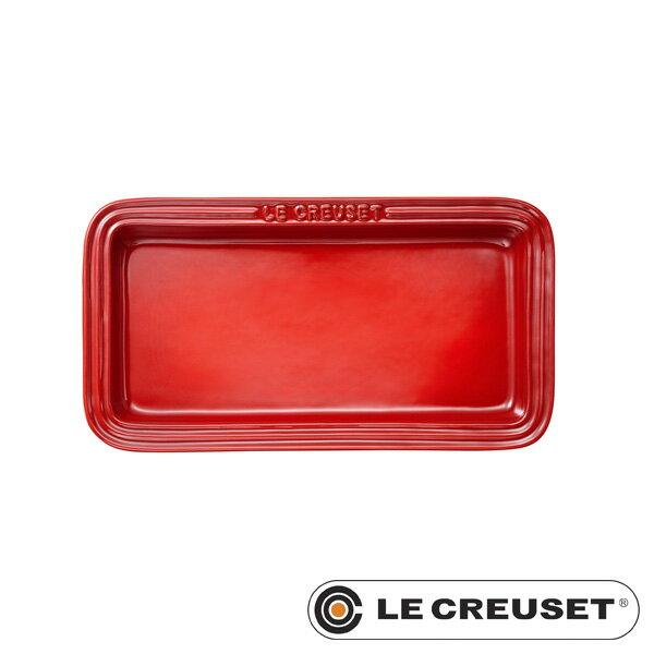 ルクルーゼ ストーンウェア レクタンギュラー・プレート LC 角皿 チェリーレッド Stoneware lecsto LE CREUSET 【ギフト袋 対象】