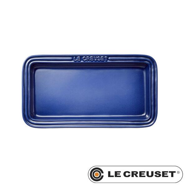 ルクルーゼ ストーンウェア レクタンギュラー・プレート LC 角皿 コバルトブルー Stoneware lecsto LE CREUSET 【ギフト袋 対象】