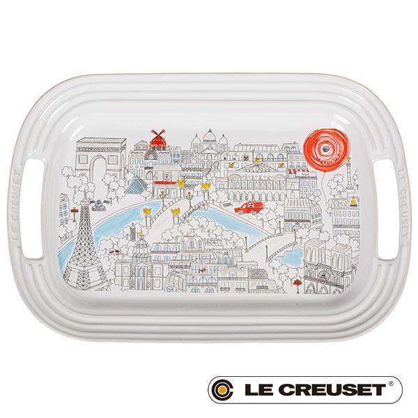 ル・クルーゼ LE CREUSET ストーンウェア サービング・プレート(M)トレイ パリ Stoneware lecsto 期間限定 限定