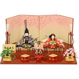 ひな人形 雛人形 親王飾り 衣装着ひな人形 まめひな 満開さくら 初節句 お祝い
