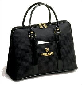 【ピエールルアン 手提げバッグ】 Pierre Rouen ボリードバッグ 黒 女性 レディース トラベル ビジネス タウンユース アーバン 人気