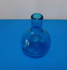 ガラス一輪差し(ブルー)H-007