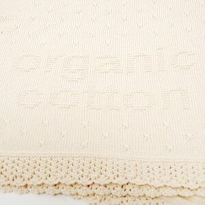 オーガニックコットンベビーコットンボール柄模様編みアフガン85×85
