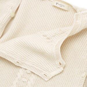 オーガニックコットンあぜ編みカバーオール