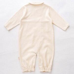 オーガニックコットン新生児ベビー2wayオール