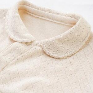 オーガニックコットンベビー襟つきツーウェイドレスナチュラル