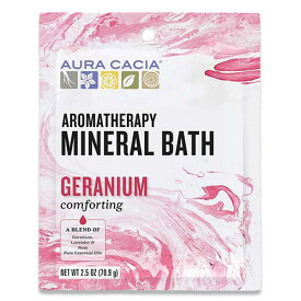 [NEW] AURA CACIA ゼラニウム ミネラル バス 入浴剤 70.9g(2.5oz) オーラカシア