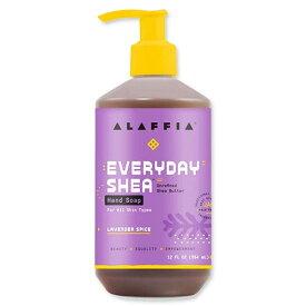 Alaffia ハンドソープ シア ラベンダースパイス 354ml(12floz) アラフィアせっけん セッケン 石鹸 石けん 液体 えきたい リキッド ソープ ハンドソープ soap handsoap 手洗い てあらい 予防 対策 おしゃれ 洗浄 習慣 子供 大人 キッズ ケア