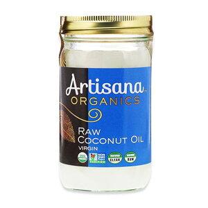 オーガニック 生バージンココナッツオイル 414g(14floz) Artisana(アーティサナ)未精製 料理 お菓子 オシャレ 低カロリー 脂肪酸