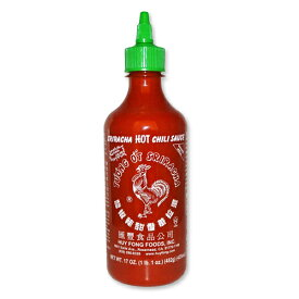 シラチャ ホットチリソース 482g(17oz) Huy Fong Foods Inc.エスニック 辛い 調味料 大人気 おいしい Sriracha スリラチャ