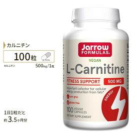 カルニチン サプリメント L-カルニチン 500mg 100粒 サプリメント サプリ ダイエットサプリ カルニチン配合 Lカルニチン Jarrow Formulas
