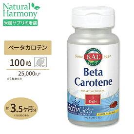 ベータカロチン 25000IU(ビタミンA ベータカロテン) 100粒