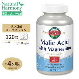リンゴ酸&マグネシウム 120粒 KAL健康 ミネラル マグネシウム タブレット サプリ サプリメント