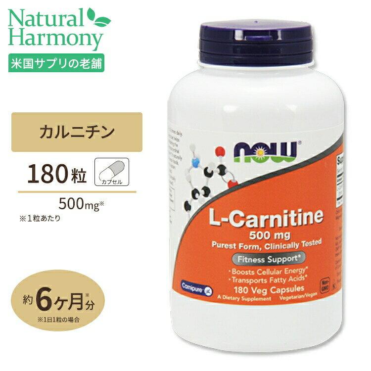 【ポイントUP対象★21日11:59まで】L-カルニチン 500mg 180粒 NOW Foods(ナウフーズ)【人気】