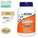 GABA(ギャバ) ビタミンB6 500mg 100粒 NOW Foods(ナウフーズ)送料無料