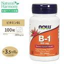 [最大8%OFFクーポン有]ビタミンB-1 (チアミン)100mg 100粒 NOW Foods(ナウフーズ)