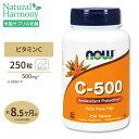 ビタミンC-500 with ローズヒップ 500mg 250粒 NOW Foods(ナウフーズ)☆☆