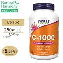 ビタミンC-1000 with ローズヒップ・バイオフラボノイド 1,000mg 250粒 NOW Foods(ナウフーズ)☆☆