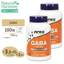 [2個セット]GABA(ギャバ) 750mg 100粒 NOW Foods(ナウフーズ)