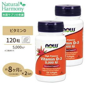 [2個セット]ビタミンD-3 5000IU 120粒サプリメント ダイエット 健康 健康サプリ ビタミン類 ビタミンD配合☆☆