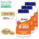 [最大8%OFFクーポン有][3個セット]ビタミンB-100(Bコンプレックス)タイムリリース 100粒 NOW Foods(ナウフーズ)