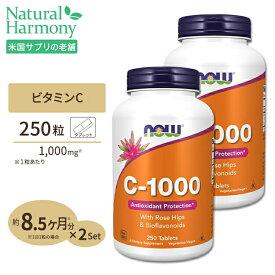 ビタミンC-1000 with ローズヒップ・バイオフラボノイド 1,000mg 250粒 NOW Foods(ナウフーズ) [2個セット]