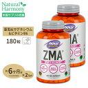 [2個セット]ZMA(亜鉛&マグネシウム&B6) 180粒 NOW Foods(ナウフーズ)【全品ポイントUP★12月4日18:00-18日9:59迄】
