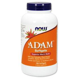 アダム メンズマルチビタミン 180粒 NOW Foods(ナウフーズ)[★お一人様1点限り]