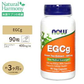EGCg(エピガロカテキンガレート) グリーンティーエキス 90粒 NOW Foods(ナウフーズ)