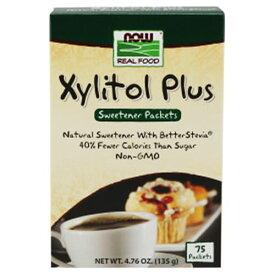 キシリトールプラス 個包装 75回分 135g NOW Foodsキシリ コーヒーシュガー 紅茶 歯 粉末 ナウ