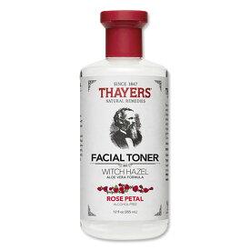 Thayers フェイシャルトナー ウィッチヘーゼル ローズペタルの香り 化粧水 355mlバラ アロエベラフォーミュラ アルコールフリー 敏感肌(セイヤーズ)