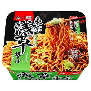 サッポロ一番 旅麺 浅草ソース焼そば カップ 109g 12個入り