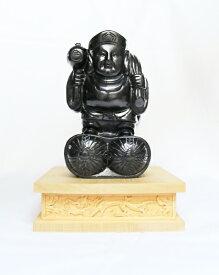 【送料無料】【数量限定】天然ジェット 大黒様 大黒天 ジュエリー素材 仏像