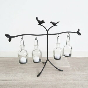 【送料無料】【花台】ガラス アイアン花瓶 フラワーベース カラフルLED付き