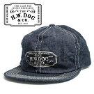 THEH.W.DOG&CO.ドッグアンドコーデニムトラッカーキャップ帽子インディゴ