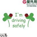 メール便対応★I'm driving safely転写式 カッティングステッカー小サイズ【キュート・スローライフ】