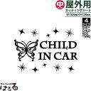 【メール便対応】バタフライデザイン(C)/中サイズBABY/CHILD/KIDS/TWINS IN CAR転写式カッティングステッカー【キュート・姫系】