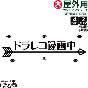 アローデザイン/ドラレコ・前後方録画中/大サイズ