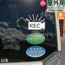 【メール便対応】カメラにREC(小サイズ)マグネット対応/転写式カッティングステッカーあおり運転防止/防犯・安全対策に【シンプル】