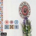 【decolfa】デコルファ壁紙に貼れるおしゃれでかわいいフックステッカー/丸型・四角全6種類