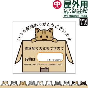 置き配で大丈夫です/箱入り猫/中サイズ