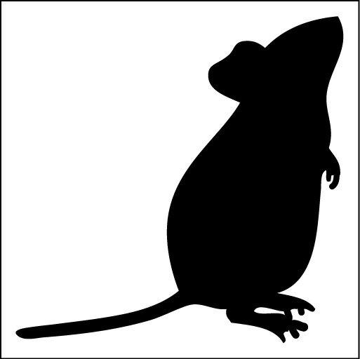 楽天市場】ネズミ ステッカー シルエットの通販