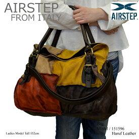 【AIRSTEP】イタリア製 レザーバッグ ショルダーバッグ 斜めがけ レディース 本革 a4 通勤 旅行 日帰り メッセンジャーバッグ ハンドバッグ レディース大人 カバン 鞄 レザー 151596
