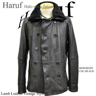 Haruf Leather | Rakuten Global Market: Leather coat leather pea ...