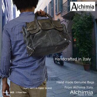 真皮肩包 (Alchimia 品牌) ab2238 <>(袋皮革皮革商店进口品牌单肩包皮革背包乐天)
