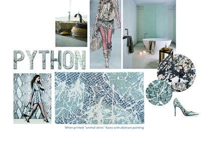 玄関マット綿100%ABYSS&HABIDECOR(アビス&ハビデコール)PYTHON約60×100cm