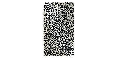 [国内正規品]ラグマットLEOPARD約140×200cm/ABYSS&HABIDECOR(アビスアンドハビデコール)[リビング玄関ラグインテリアおしゃれブランドモダンスタイリッシュ円形丸変形綿コットン天然素材洗えるギフト贈り物ヒョウ柄豹柄]