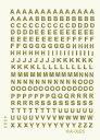 メール便送料無料 エレガントカットシール ミニ A-0025 アルファベット ゴシック体 ゴールド ネイルシール
